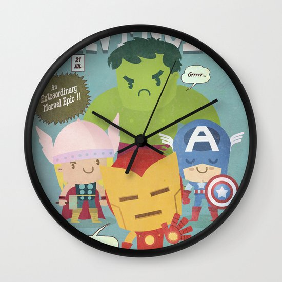 avengers fan art Wall Clock