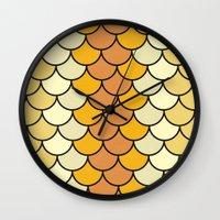 Yellow Bloom Wall Clock