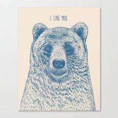 Bear (Ivory) Canvas Print