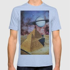 Pyramids Mens Fitted Tee Athletic Blue SMALL