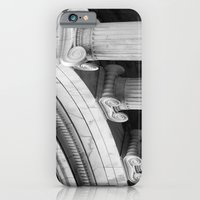 iPhone & iPod Case featuring Classical marble columns in black and white by Wood-n-Images