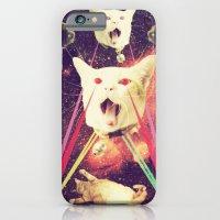 iPhone & iPod Case featuring galactic Cats Saga 4 by Carolina Nino