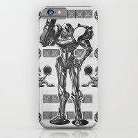 Metroid - Samus Aran Line Art Vector Character Poster iPhone 6 Slim Case