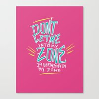 In My Zone Canvas Print