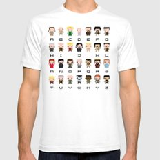 Game of Thro nes Alphabet Mens Fitted Tee White SMALL