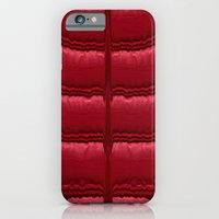 iPhone Cases featuring Abstract Red Quilt    by Zenya Zenyaris