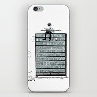 LITTLE DREAMS, BIG BOOKCASE iPhone & iPod Skin