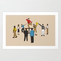 Art Print featuring Party Foul by Bouké