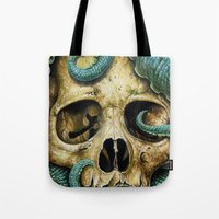 Tentacle skull Tote Bag