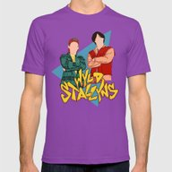 Bill And Ted Wyld Stally… Mens Fitted Tee Ultraviolet SMALL
