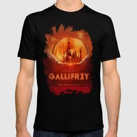 Travel To Gallifrey! Mens Fitted Tee Black SMALL