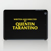 Written And Directed By Quentin Tarantino iPad Case