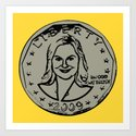 Leslie Knope  |  Susan B. Anthony Coin  |  Parks and Recreation Art Print