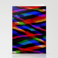 Coloured collage pattern Stationery Cards