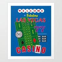 Las Vegas Poker Casino Art Print Decoration Art Print
