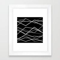 B/W geometric pattern (waves) Framed Art Print