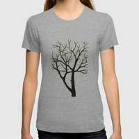 WHITE TREE Womens Fitted Tee Athletic Grey SMALL