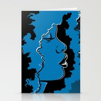 Jazz singer Stationery Cards