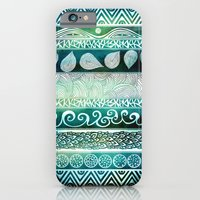 iPhone Cases featuring Dreamy Tribal Part VIII by Pom Graphic Design