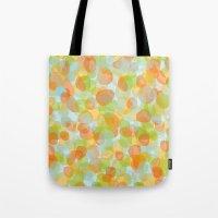 Pebbles Orange Tote Bag