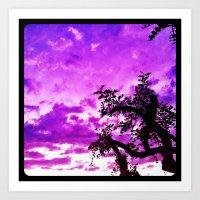A dash of purple in the sky. Art Print