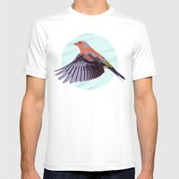 Chaffinch In Flight Mens Fitted Tee White SMALL
