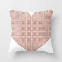 I love you this much... (light purple) Throw Pillow