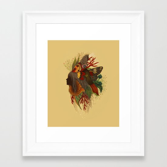 Natural Dark Framed Art Print