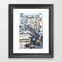 India New Delhi Pahargan… Framed Art Print