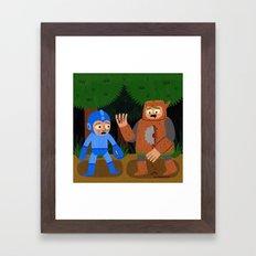The Death of Woodman Framed Art Print