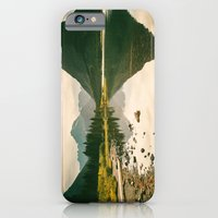 iPhone & iPod Case featuring Mountain Reflecting the Lake in Many Glacier  by Kevin N. Murphy Photography