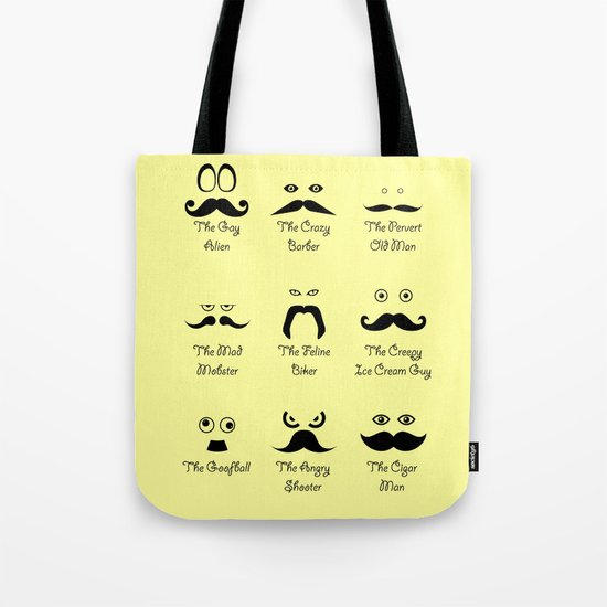 Eyes and Facial Hair Tote Bag