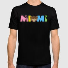 Miami Mens Fitted Tee Black SMALL