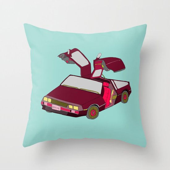 cool girls like flying cars Throw Pillow