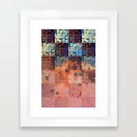 Digital Checkerboard Framed Art Print