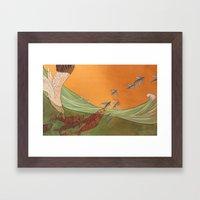 A Change in Tide Framed Art Print