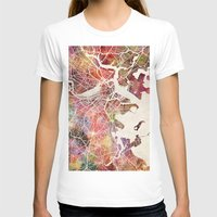 boston T-shirts featuring Boston by MapMapMaps.Watercolors