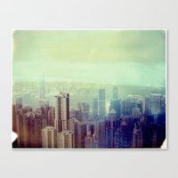 Hong Kong Polaroid Canvas Print