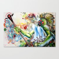 Architect of Prehysterical Myth Canvas Print