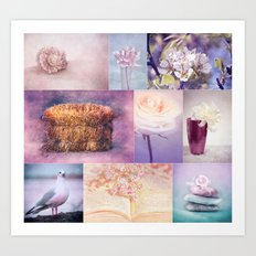 ROMANTIC COLLAGE Art Print
