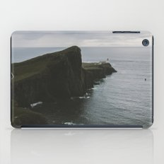 Neist Point Lighthouse at the Atlantic Ocean - Landscape Photography iPad Case