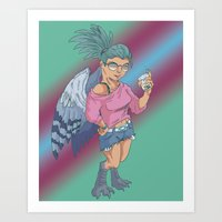 Harpy Gal Art Print