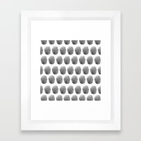 Watercolour polkadot black Framed Art Print