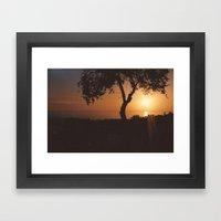 Pafos Sunset Framed Art Print