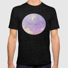 Relax Mens Fitted Tee Tri-Black SMALL