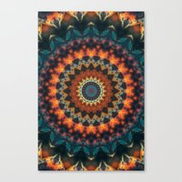 Fundamental Spiral Mandala Canvas Print