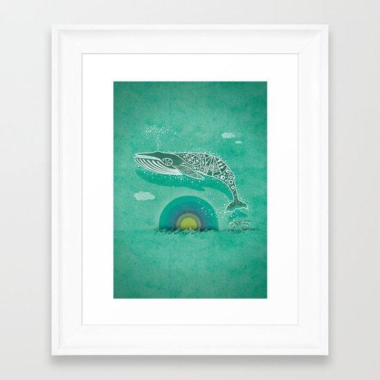 Whale Future Framed Art Print