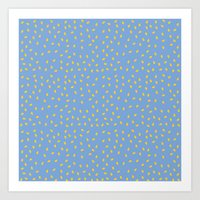 Yellow Pit On Blue /// W… Art Print