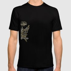 UNITED STATES OF BEARDLY Mens Fitted Tee Black SMALL