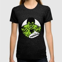 Hulk loves Monday Womens Fitted Tee Tri-Black SMALL